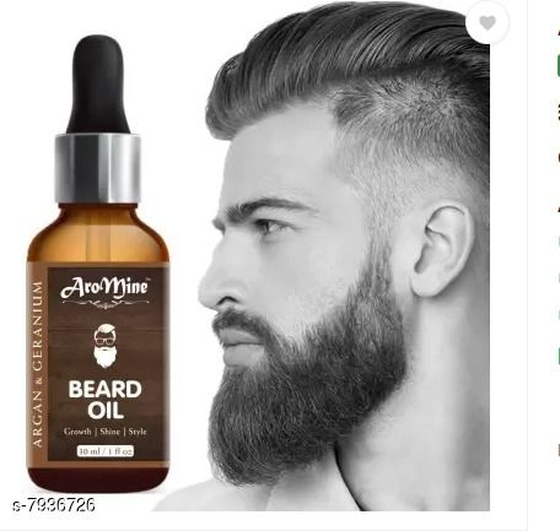 AroMine Beard Growth Oil for Longer and Thicker Beard and Moustache Hair Oil (30 ml)