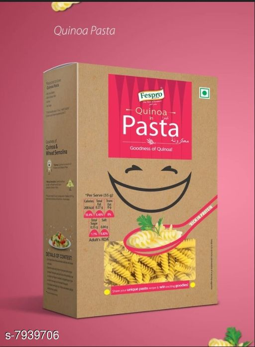Noodles, Pasta & Ketchup Pasta  *Product name * Pasta Quinoa (Spiral) 300 gm (Pack of 2)  *Multipack  * 2  *Sizes Available* Free Size *    Catalog Name: Pasta CatalogID_1306624 C89-SC1740 Code: 233-7939706-