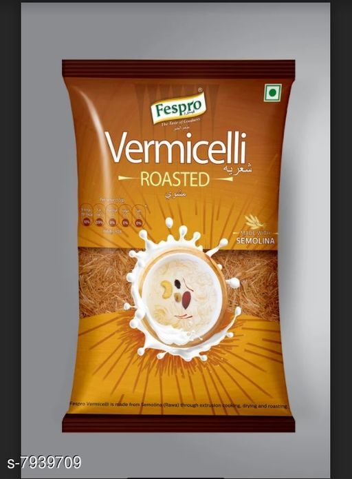 Noodles, Pasta & Ketchup Pasta  *Product name * Vermicelli Roasted 200 gm (Pack of 2)  *Multipack  * 2  *Sizes Available* Free Size *    Catalog Name: Pasta CatalogID_1306624 C89-SC1740 Code: 171-7939709-