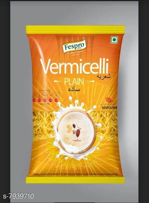 Noodles, Pasta & Ketchup Pasta  *Product name * Vermicelli Plain 400 gm (Pack of 2)  *Multipack  * 2  *Sizes Available* Free Size *    Catalog Name: Pasta CatalogID_1306624 C89-SC1740 Code: 491-7939710-