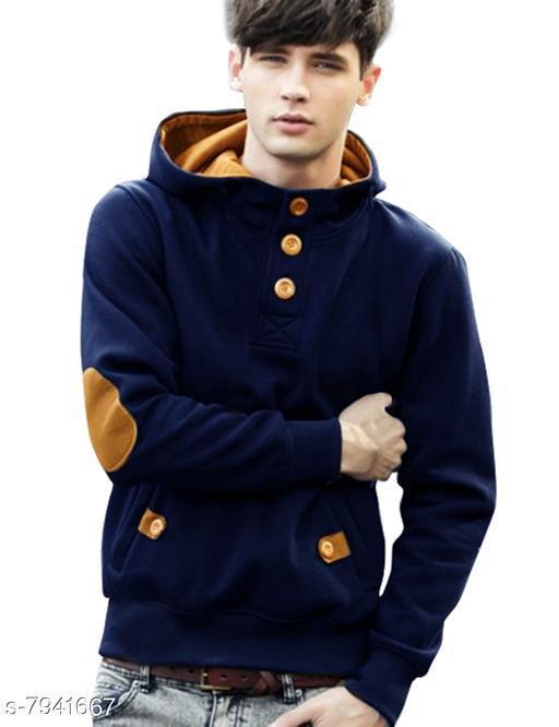 MEN ROCKS 100% Cotton Fleece Regualr Fit Fullsleeves Men's Sweatshirt