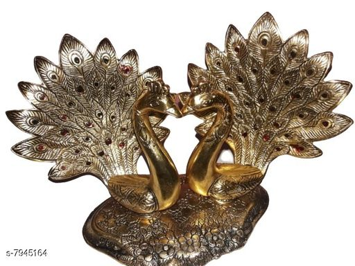 Religious Idols & Paintings Peacock Pair  *Material* Metal  *Pack* Pack of 1  *Sizes Available* Free Size *    Catalog Name: Trendy Idols & Figurines CatalogID_1307911 C128-SC1316 Code: 916-7945164-