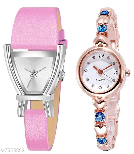 Green Scapper Gold Metal Strap Luxury Party Wedding Rich Look Analog Watches For Women & Girls-2630