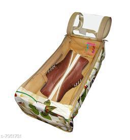 Flower Printd Shoe Cover Travelling Shoe Storage  Footwear Organiser Pouch Shoe Bag Pack of 1