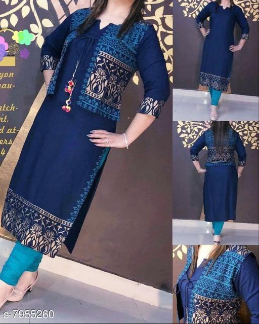 Rayon Jacket kurti for women's