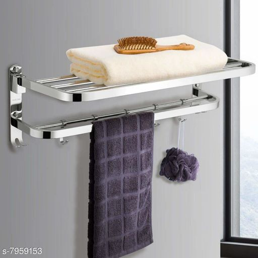 Towel Rods GLOXY premium High Grade 304 Stainless Steel Folding Towel Rack for bathroom/Towel Hanger/Towel Stand/ Towel Holder/Bathroom Accessories-Pack of 1(24 Inch- Chrome Finish) Made in India Material: Stainless Steel Pack: Pack of 1 Country of Origin: India Sizes Available: Free Size   Catalog Rating: ★4.4 (63)  Catalog Name: Free Gift Colorful Towel Rods CatalogID_1310925 C132-SC1593 Code: 1321-7959153-9902