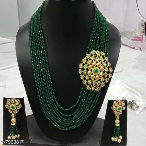 R B INTERNATIONALS WOMENS NECKLACE AND EARING SET WITH BEAUTIFUL LOOKING AND FRESH WATER BEED