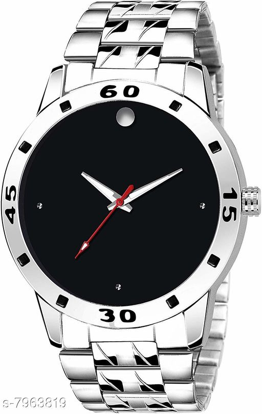 MEN_30 BLACK ROUND DIAL NEW ARRIVAL ANALOG WATCH FOR MEN