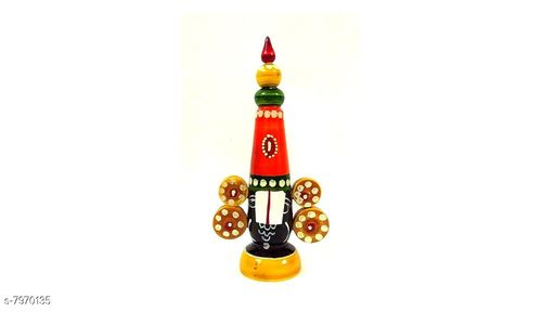 Religious Idols & Paintings Wooden Balaji Medium  *Material* Wooden  *Pack* Pack of 1  *Sizes Available* Free Size *    Catalog Name: Unique Idols & Figurines CatalogID_1313353 C128-SC1316 Code: 432-7970135-