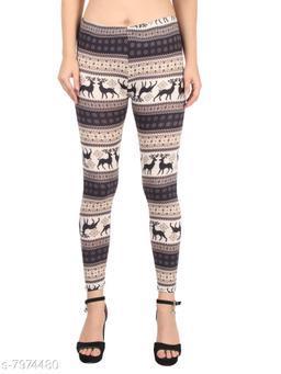 CAMEY Women's Printed Tights/Legging (Multicolour, Free Size)