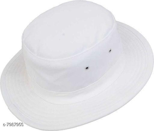 Stylish Men's White Cotton Hats