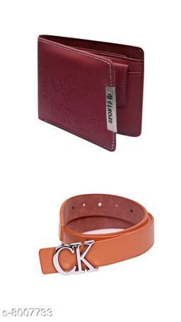 Trendy Men's Belt ans Wallet Combo