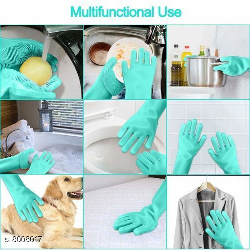 Cleaning Gloves Cleaning Gloves  *Fabric* Silicon  *Multipack* 1 Pair  *Sizes Available* Free Size *    Catalog Name: Check out this trending catalog CatalogID_1321208 C89-SC1750 Code: 003-8008017-