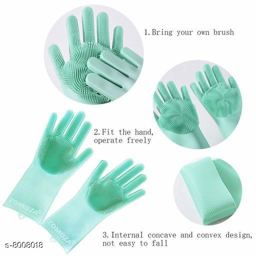 Cleaning Gloves Cleaning Gloves  *Fabric* Silicon  *Multipack* 1 Pair  *Sizes Available* Free Size *    Catalog Name: Check out this trending catalog CatalogID_1321208 C89-SC1750 Code: 003-8008018-