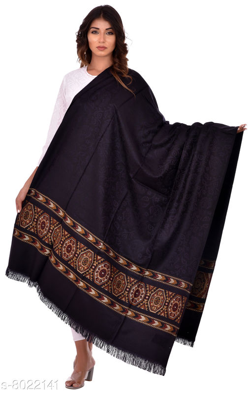 Women Solid Kullu Palla Shawl, Wraps