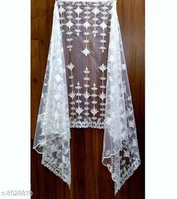 NEW BUTTERFLY SOFT NET DUPATTA WITH COTTON THRED EMBROIDERY WORK U MAKE A MORE BEAUTIFUL