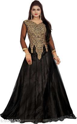 Classy Women's Black Net gown