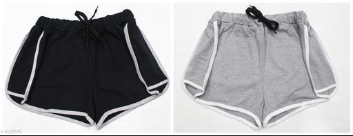 Powermerc Solid Cotton Women Combo Shorts