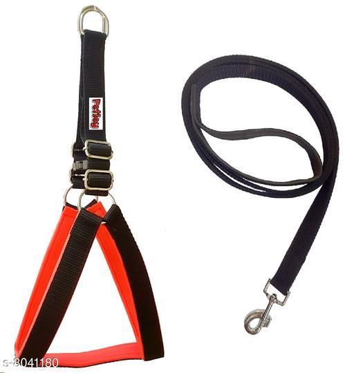 Petley Premium Quality Eva Padded Dog Body Belt Harness and Broad Strap Padded Dog Leash Combo Set for Medium Dogs