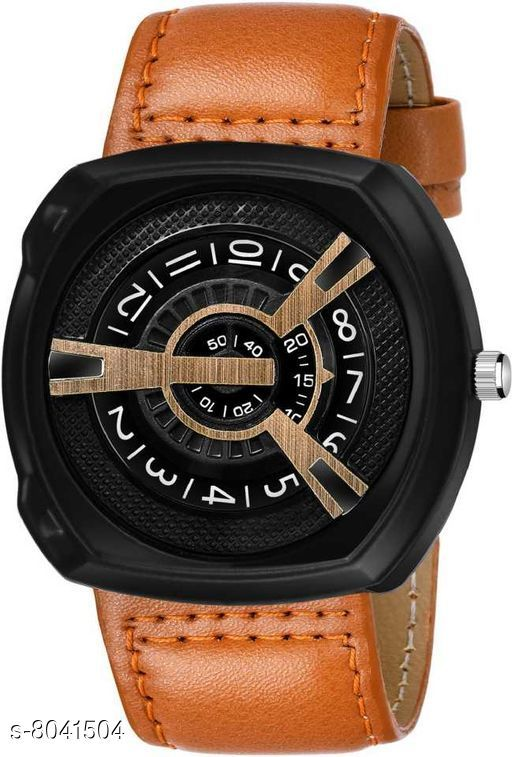 Stylish leather new trending attractive casual watch for men