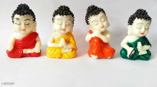 Feng Shui Showpieces Elegant Buddha showpiece  *Material* Resin  *Multipack* Set of 4  *Size* 2 inches  *Sizes Available* IND-2 *    Catalog Name: Elegant Buddha showpiece CatalogID_1331765 C139-SC1682 Code: 303-8053241-