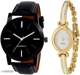 Vwatch Casual Analogue Black dial Black strap watch for Men and Women - Vwatch_W_Bkplain Whitemina