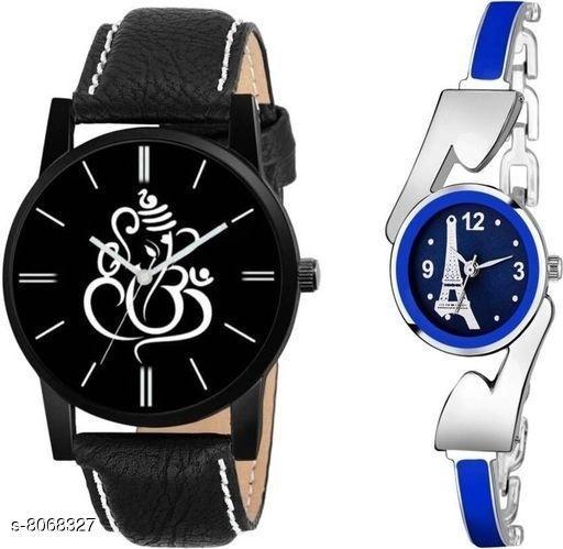Vwatch Casual Analogue Black dial Black strap watch for Men and Women - Vwatch_W_Ganpati Paris