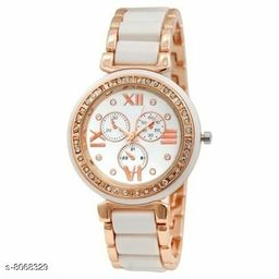 Vwatch Casual Analogue White dial Gold strap watch for Women - Vwatch_W_IIKW MINA WHITE