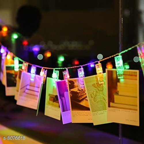 Brand World D.I.Y. 20 LED Photo Clip String Lights, D.I.Y. Home Decoration Hanging Fairy Lights, 20 Photo Clips (Multicolour)