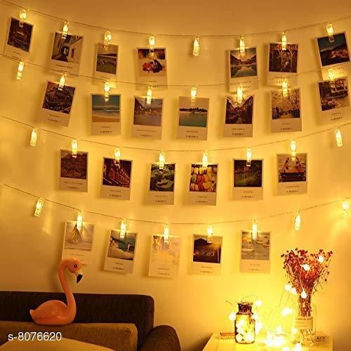 Brand World D.I.Y. 20 LED Photo Clip String Lights, D.I.Y.Home Decoration Hanging Fairy Lights, 20 Photo Clips Warm White