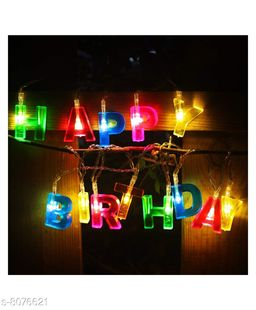 Brand World Happy Birthday, LED Lights. D.I.Y. Letter Shaped Battery Operated String Lights Birthday Party Decor Supplies
