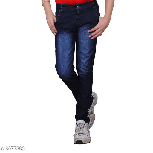 Jeans Trendy Boy's Jeans Fabric: Cotton Blend Pattern: Solid Multipack: Single Sizes:  Age Group (2 - 3 Years) - 20 in Age Group (4 - 5 Years) - 24 in Age Group (6 - 7 Years) - 28 in Age Group (8 - 9 Years) - 30 in Age Group (10 - 11 Years) - 32 in Age Group (12 - 13 Years) - 34 in Age Group (14 - 15 Years) - 36 in Age Group (15 - 16 Years) - 36 in Country of Origin: India Sizes Available: 1-2 Years, 2-3 Years, 3-4 Years, 4-5 Years, 5-6 Years, 6-7 Years, 7-8 Years, 8-9 Years, 9-10 Years, 10-11 Years, 11-12 Years, 12-13 Years, 13-14 Years, 14-15 Years, 15-16 Years   Catalog Rating: ★3.8 (3260)  Catalog Name: Cutiepie Fancy Boys Jeans & Jeggings CatalogID_1337408 C59-SC1180 Code: 344-8077260-