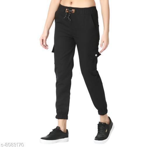 Skinny Black Side Pocket Twil Pencil Jogger Jeans For Women-2472
