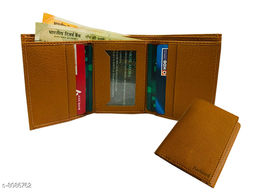 Trendy Men's Brown Leather Wallet
