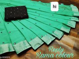 trandy linen silk saree