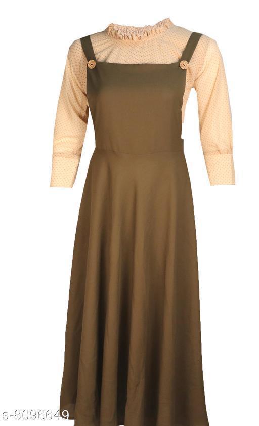 Women and Girls Dungaree Pinafore Long Skirt and Top Dress