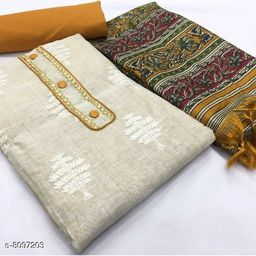 Trendy Khadi Cotton Suit