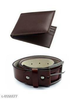 Trendy Men Belt & Wallet Combo