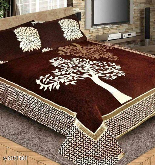 Attractive Heavy Silk 108 X 108 Double Bedsheets