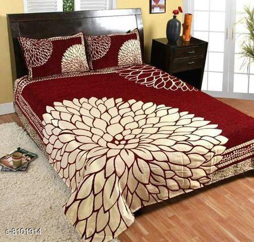 Attractive Heavy Silk Double Bedsheets