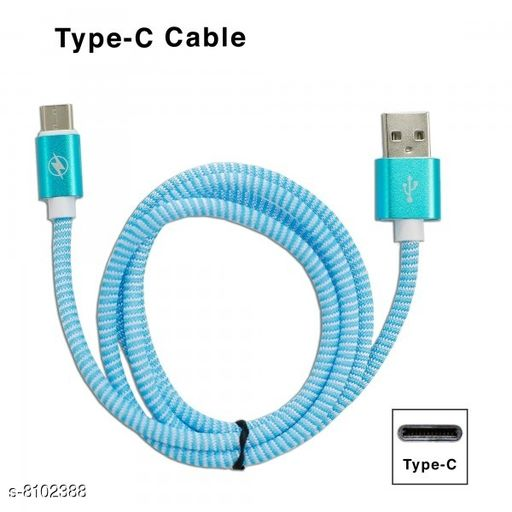 Type C 2.4A Extra Tough Unbreakable PULSE 1Meter USB Cable(Blue)