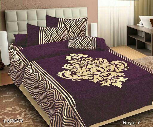Attractive Heavy Silk 108 X 99 Double Bedsheets
