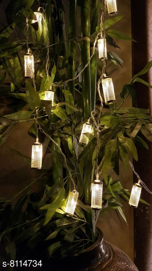 Brand World Cylinder Shape Metal LED String Decorative Lights for Diwali, Christmas, Wedding, Party, Home Decorations (Warm White)