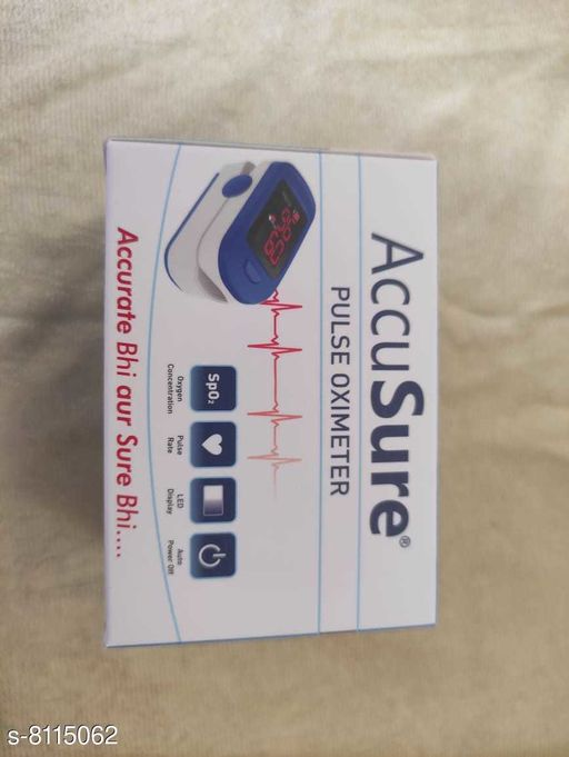 Orthopedics Pulse oximeter Pulse oximeter Sizes Available: Free Size *Proof of Safe Delivery! Click to know on Safety Standards of Delivery Partners- https://ltl.sh/y_nZrAV3   Catalog Name: Accu Sure CatalogID_1346164 C125-SC1569 Code: 1731-8115062-9993