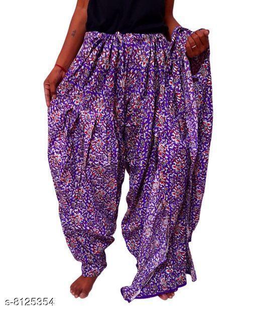 Ethnic Bottomwear - Patiala Pants Beautiful Cotton Patiala   *Fabric* Cotton  *Multipack* 1  *Sizes*   *Free Size (Length Size* 42 in)  *Sizes Available* Free Size *    Catalog Name: Elegant Women Patialas CatalogID_1348471 C74-SC1018 Code: 024-8125354-