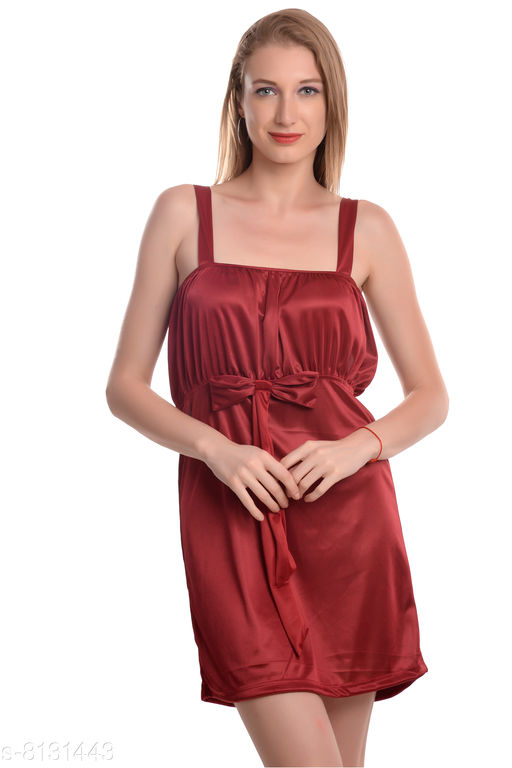Nightdress Trendy NightDress  *Fabric* Satin  *Pattern * Solid  *Multipack * 1  *Sizes* Nightdress Size  *Free Size (Bust Size* 44 in)  *Sizes Available* Free Size *    Catalog Name: Trendy Nightdress CatalogID_1349273 C76-SC1044 Code: 403-8131443-