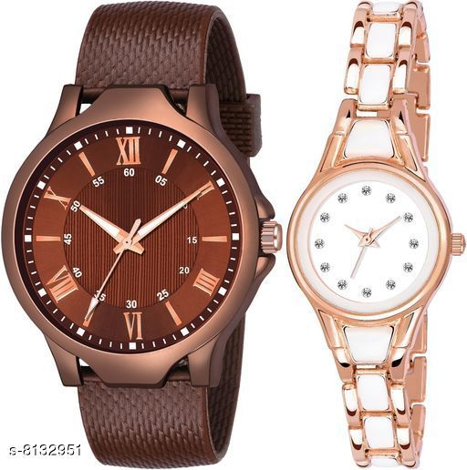 Watches Stylish Analog Watches  *Strap Material* Stainless Steel  *Display Type* Analogue  *Size* Free Size  *Multipack* 2  *Sizes Available* Free Size *    Catalog Name:  Designer Men and Women Watch  CatalogID_1350191 C65-SC1232 Code: 862-8132951-