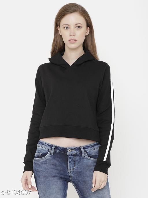 Elegance Woman's Full Sleeve Corpped Sweatshirt