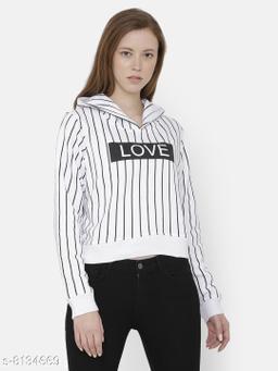 Elegance Woman's Full Sleeve Corpped Printed Sweatshirt