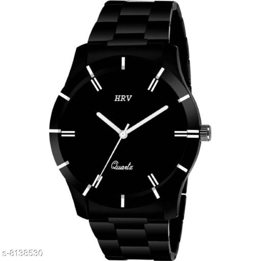 HRV Machine Black Chain Analog Watch for Men's And Boy's Watch - For Boys